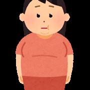 ウエスト太りに悩む女性の画像