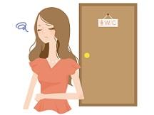 トイレで出なかった便秘気味の日本人女性の画像