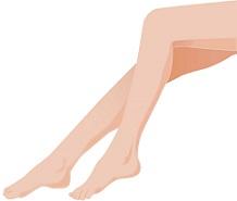 鏡に映した細くなった脚