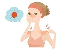 日焼けしてしまった女性の画像