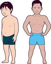 筋肉アップ前と成功後のイメージ画像