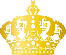 キングが頭に被るのに相応しい金色のゴージャスな王冠