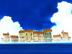 海で遭遇した蜃気楼のイメージ