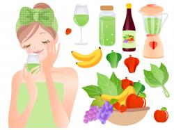 手作りオリジナルレシピクレンズジュースを飲んでいる女性