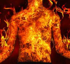 脂肪が燃えているイメージ画像
