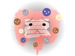 悪玉菌に汚染されている腸のイメージ画像