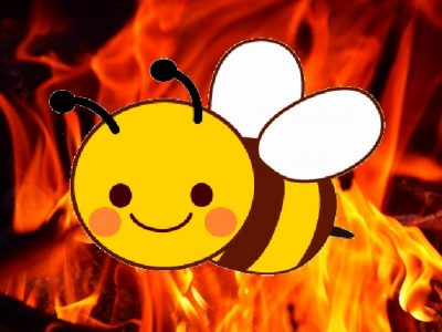 蜂と炎のイメージ