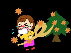 花粉症で苦しんでいる人の画像