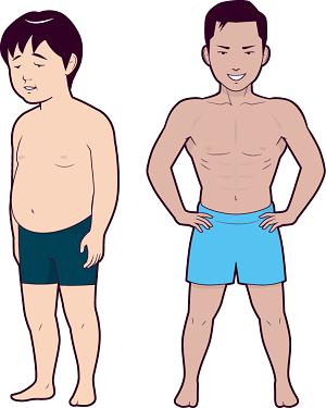 太っちょから細マッチョに変貌を遂げた男性の画像