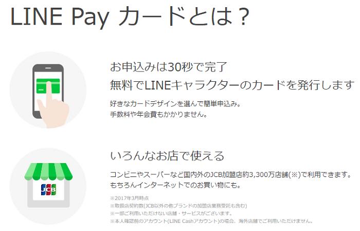 LINE Payカードについての説明画像
